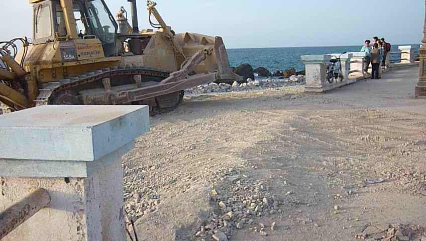 Vidéo Corniche de Sidi Majdoub en travaux