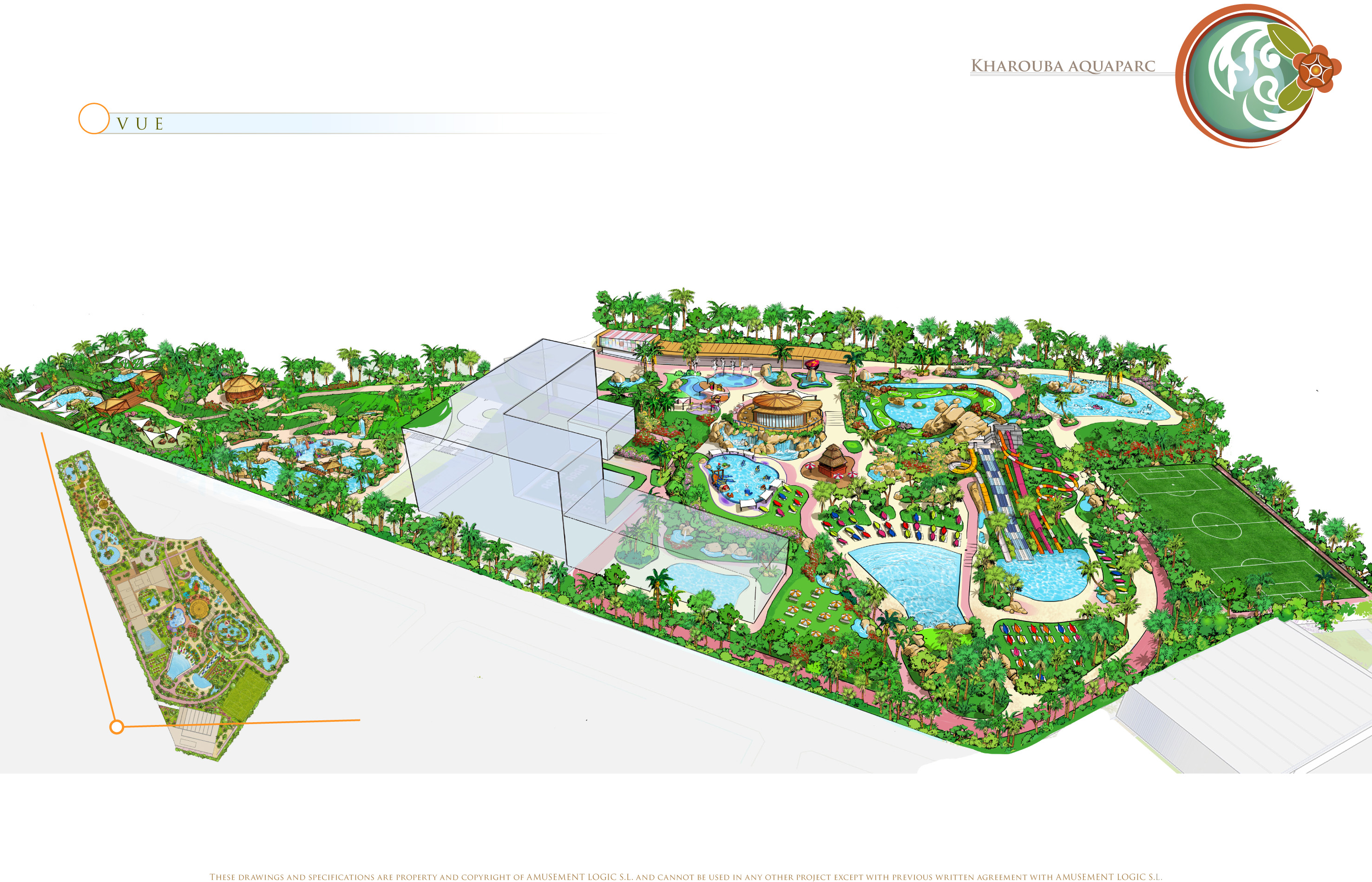 AZ aquapark Aqualand plan carte