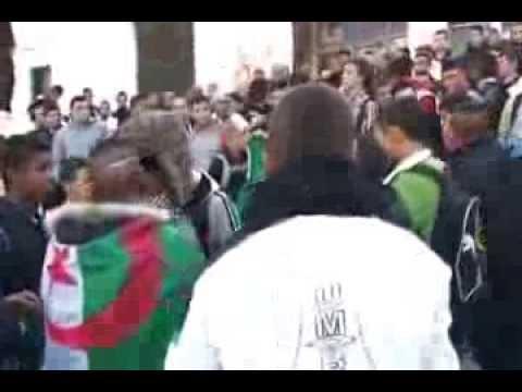 Mostaganem Célébration de la victoire de l'Algérie