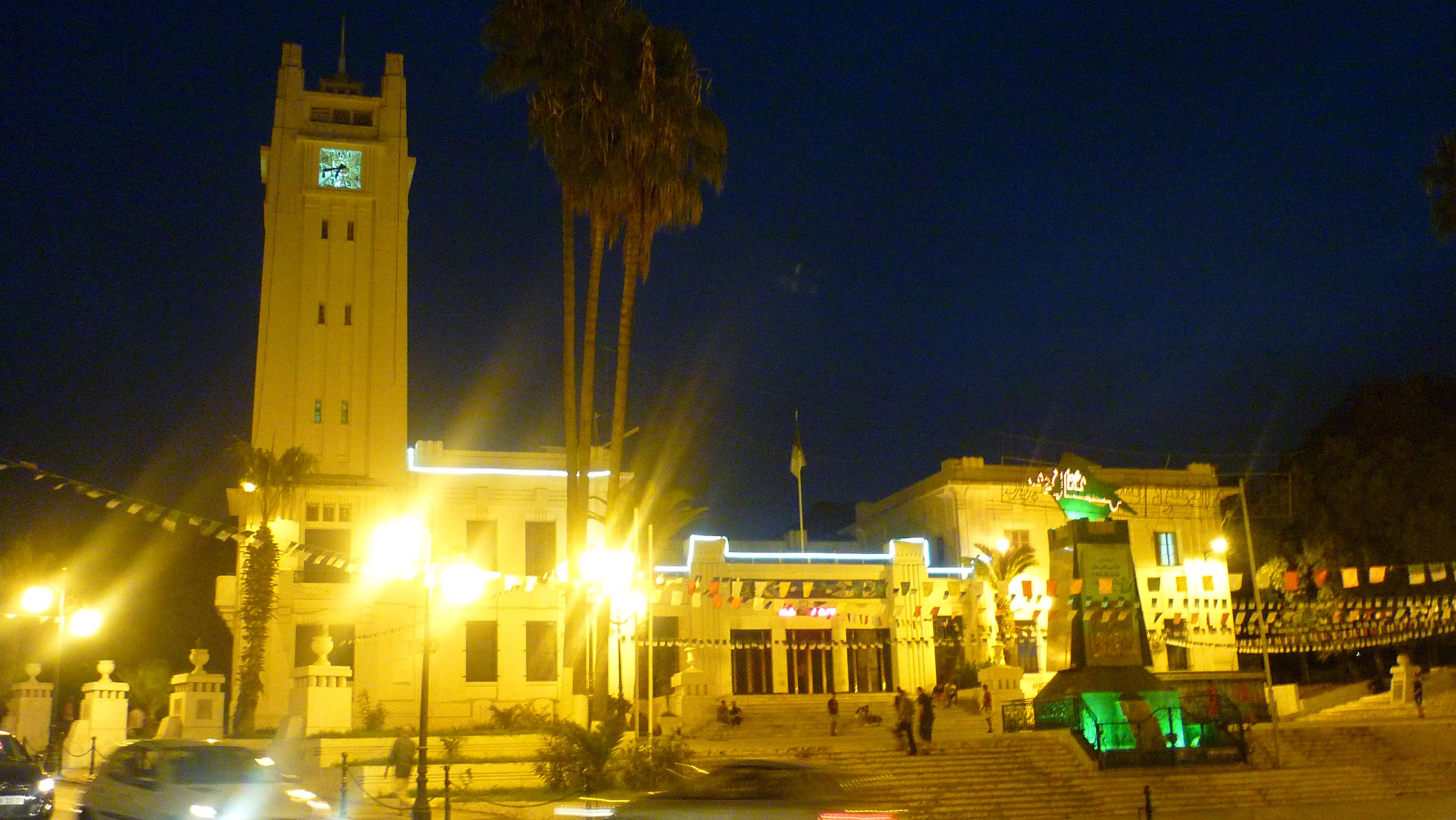 Mairie de mostaganem de nuit
