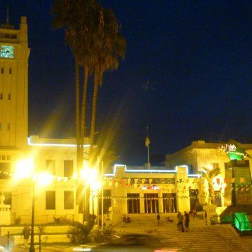 Mairie de mostaganem en pleine nuit