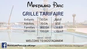 Mostaland Ggrille tariffaire